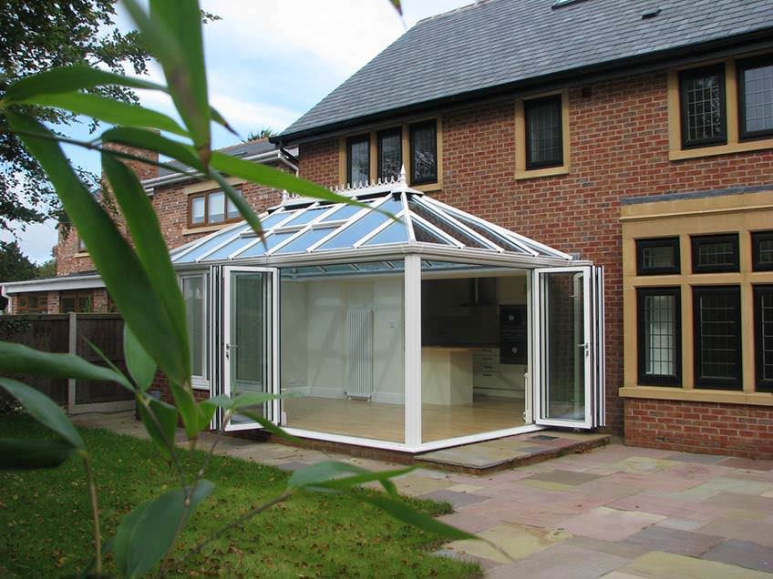 Ultraframe conservatory featuring Super Duty Eaves Beam
